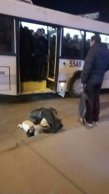 Автобус №18, из которого выбросили пенсионера