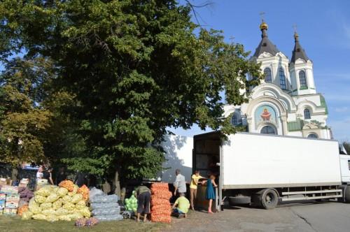 гуманитарка для славянска из епархии