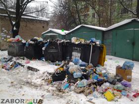 мусор во дворах