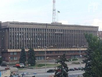 Облгосадминистрация без герба Украины