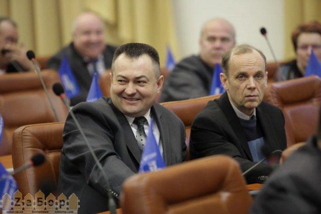 Полюсов и Гофман на сессии горсовета в Запорожье