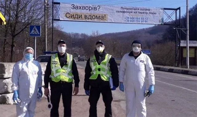 Карантин: полиция в масках